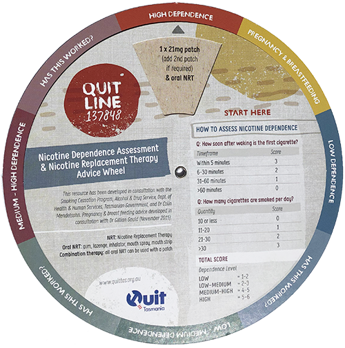 Nicotine Replacement Therapy (NRT) Wheel 1